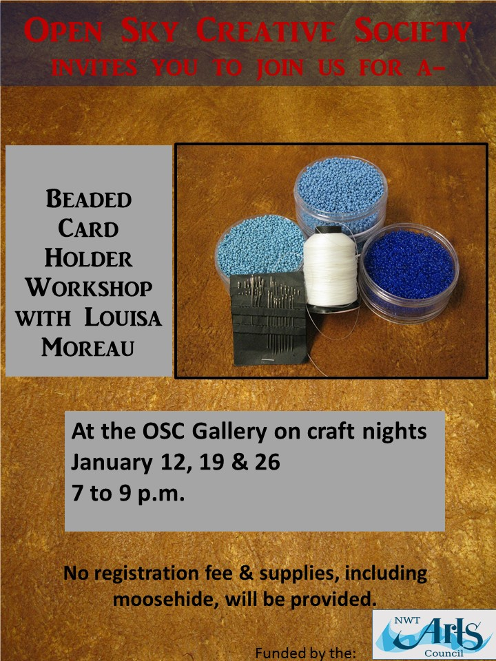 Beaded card holders with Louisa